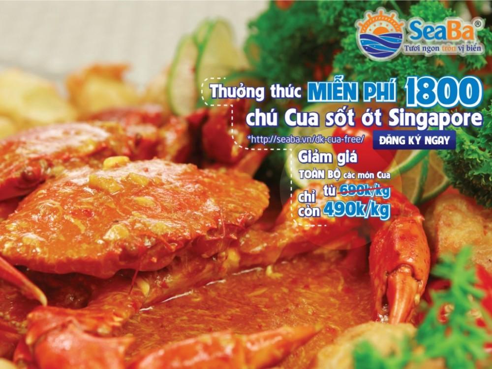 Thưởng thức miễn phí 1800 chú cua sốt ớt Singapore