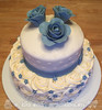 Roses and Rosettes Bridal Shower Cake