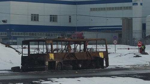 Burned down bus Ikarus-256, Domodedovo rayon