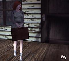 ~068~ Suitcase At the Door (Ana ~ Fashion Graffiti Blog) Tags: fashion secondlife ikon encore maitreya rebelhope wasabipills lelutka deetalez zibska rackposes maxigossamerjewellery fameshed kibdesigns