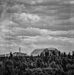 ChernobylBlock4 (naturalbornclimber) Tags: urban bw decay radiation nuclear ukraine hasselblad disaster medium format exploration bnw zone chernobyl exclusion urbex tschernobyl pripyat hasselblad503cx prypjat
