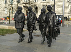 Fab Four (l4ts) Tags: liverpool statues lancashire threegraces pierhead thebeatles fabfour andyedwards merseyside liverpoolwaterfront