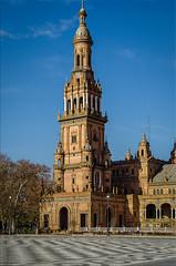 Tower of praza de Espanha 514 (_Rjc9666_) Tags: colors spain arquitectura espanha 514 urbanphotography sevilha andaluzia 1381 nikkor1855 spainsquare nikond5100 ruijorge9666