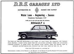 1970 ADVERT D B S GARAGES RENAULT LTD - WATER LANE ANGMERING SUSSEX - RENAULT 4 (Midlands Vehicle Photographer.) Tags: b water sussex d 4 s renault lane advert 1970 ltd garages angmering