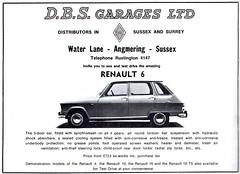 1970 ADVERT D B S GARAGES RENAULT LTD - WATER LANE ANGMERING SUSSEX - RENAULT 4 (Midlands Vehicle Photographer.) Tags: b water sussex d 4 s renault lane advert 1970 ltd garages angmering