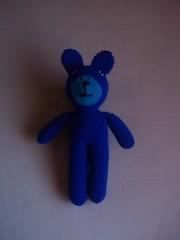 Blue bear (Miss Carlaina Love!) Tags: animals kids toys diy dolls handmade crochet craft etsy amigurumi juguetes ganchillo crochetlover etsyowner
