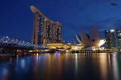 Marina Bay Sands and Helix bridge, Singapore (usov.usov) Tags: bridge marina bay singapore helix