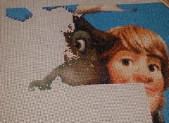 Svens Eye (diedintragedy) Tags: eye reindeer nose frozen crossstitch sewing crafts progress disney stitching sven artsandcraft kristoff frozencrossstitch crossstitchproject crossstitchprogress