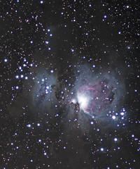 M42_masked (northern_nights) Tags: deepskyobject astrometrydotnet:status=solved orionnebulaastronomystars nikonf28180mm astrometrydotnet:id=nova1524194