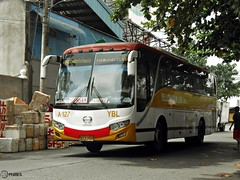 Yellow Bus Line A-127 (Monkey D. Luffy 2) Tags: road city bus public photography photo coach nikon philippines transport vehicles transportation coolpix vehicle society hino davao coaches rk philippine enthusiasts philbes rk1jmt