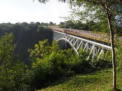 The Victoria Falls Bridge (little_duckie) Tags: africa zimbabwe bungy bungee zambezi bungyjump zambeziriver 111metres