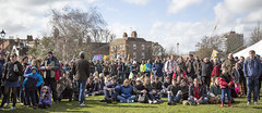 Crowd in front of the big screen (Adnams) Tags: beer theboatrace ghostship 2016 adnams furnivallgardens thebnymellonboatraces