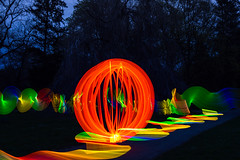 Light Painting (Lens Daemmi) Tags: light berlin painting orb olympus led strip lichtmalerei lapp marienfelde lichtkugel gutspark lichtstab livecomposite