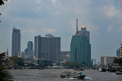 Skyline in Bangkok (yonkis_at_34) Tags: pictures voyage camera trip travel favorite building beautiful skyline river landscape fun thailand landscapes boat amazing nikon flickr photographer bangkok picture sunny montpellier most enjoy fabulous capture chao popular  phraya photographe objectif objektif nikond200 phototgraph d5300 nikond5300 yonkis34