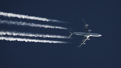 9K-ANC  Kuwait Airways A340-300 (deanhammersley) Tags: sky up high altitude flight jet trails cruising airbus kuwait airways contrails vapour a340 a340300 hieght kuwaut a340313 9kanc contrailling a340inflight