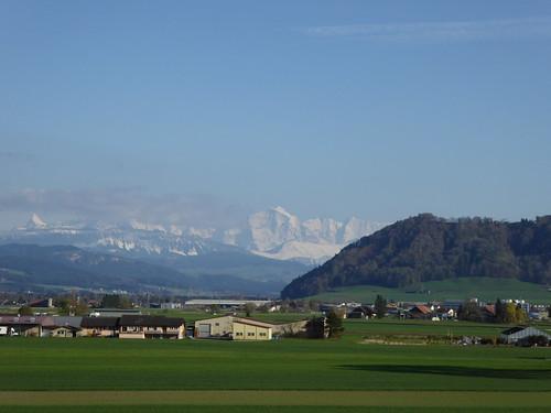 Schreckhorn ... Jungfrau ... Belpberg von Maygut-Belp