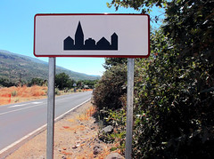 VALLE DE JERTE - Have you thought about a name? (LUAL audiovisual) Tags: town village name nombre silueta shape signal icono imagen
