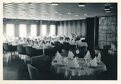 "The Restaurant in DFDS Ferry ""England"" sailing between Harwich and Esbjerg between 1964 and 1983. (ARBaurial) Tags: dfds msengland"