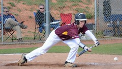 Bunt (AppStateJay) Tags: game sport baseball action away os lincoln athlete bunt charter dg gryphons 2016 f456 sigma70300mm tjca nikond7100 thomasjeffersonclassicalacademy