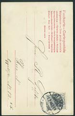 Archiv E052 Postkarte (back) nach Dresden Neustadt Oppelstrae, Poststempel vom 1. Februar 1905 (Hans-Michael Tappen) Tags: vintage stamps postcard 1905 1900s postkarte dresdenneustadt briefmarke poststempel 1900er archivhansmichaeltappen