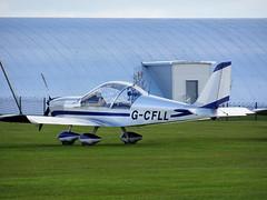 G-CFLL Aerotechnik EV-97 Eurostar cn LAA 315-14825 Sywell 23Apr16 (kerrydavidtaylor) Tags: eurostar ev97