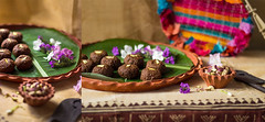 Chocolate Sondesh (Chandrima Sarkar) Tags: food india chocolate delhi indoor fudge decor bengali teracotta poilaboishakh sondesh