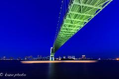 TokyoBlue Rainbow Bridge (kazu photo) Tags: tokyo snap bluehour  bluemoment tokyoblue