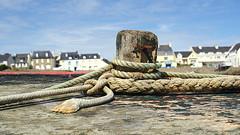 Ropes (patrick_milan) Tags: sea mer reflection boat brittany ship bretagne reflet bateau cordage iroise portsall