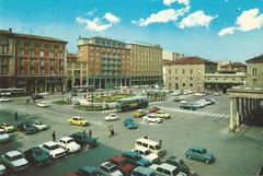 Bologna, Italy, 1970s (cruisemagazine) Tags: from above two get cars for hotel see is photo still do exercise time you know good bottom first front crest here next been we have when postcards bologna scanned come what resolution around below parked but another piazza ronan various simply seventies scenes ran enough because appear the identifying carspotting impounded dont medaglie todays at glon well doro