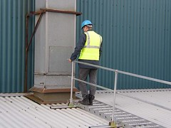 Working at Height Broad-Walk (F.H.Brundle) Tags: safety equipment edge handrail protection height lanyard working roof anchor handrailingsolutions