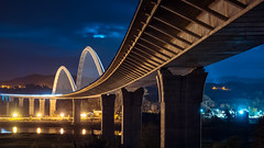 Navias Bridge (bertigarcas) Tags: bridge espaa industry night puente spain arquitectura nightscape asturias olympus nocturna industria arquitecture omd navia em5