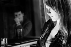 Lust (markem808) Tags: light white black girl beautiful bar drink low customer dim bartender