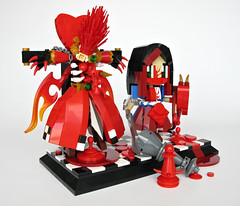 Off with her head... (LegoWyrm) Tags: blood lego alice queenofhearts americanmcgeesalice