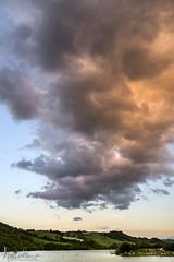 Smoke in the sky (Andrea Morico) Tags: italy sun lake water clouds boats lago nikon italia nuvole tracks barche april backlit aprile sole acqua marche brands controluce manfrotto d610 cingoli lakecaterpillar lagodicingoli