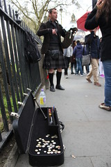 Bagpiper (TimStClair) Tags: england london unitedkingdom bagpipes busking bagpiper