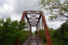 Old Railroad Bridge (The Old Texan) Tags: railroad trees sky clouds tracks explored