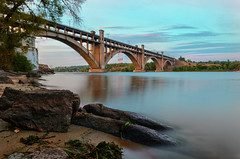 ( ) Tags: bridge water architecture river arch outdoor steel zp dnipro  zaporozhye   nikond5100