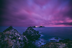 Afterglow (Maximecreative) Tags: longexposure sunset sea sky lighthouse ferry clouds spring lowlight rocks mediterranean corse corsica dramatic wideangle motionblur f28 atmospheric select archipelago afterglow lastlight les sanguinaires 14mm samyang