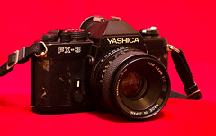 YASHICA FX-3 (Zimeoni) Tags: street camera pink black classic love film leather japan darkroom vintage prime oldschool made 55mm 70s historical f2 yashica fx3