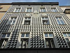 Kraków (kenjet) Tags: city windows blackandwhite white black building geometric window architecture triangles blackwhite triangle europe pattern patterns poland panes structure pane kraków cracow