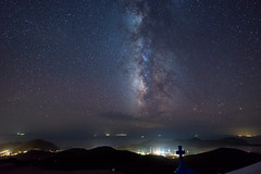 Into The Galaxy (Christophe_A) Tags: island star timelapse nikon nightscape greece astrophotography 20mm christophe tracker antiparos d800 milkyway nikond800 christopheanagnostopoulos digislider polarie