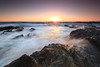 Sunset (appi U) Tags: seascape japan rocks 日本 kanagawa 岩 夕日 海 神奈川 波 磯 岩場