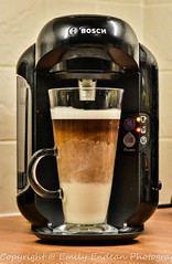 #137 of 365 - latte time - 301215 (Emily_Endean_Photography) Tags: morning macro coffee nikon tired latte caffiene tassimo nikonmacro d7200
