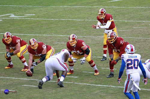 Redskins Offense is ready for the play, lead by QB Kirk Cousins.
