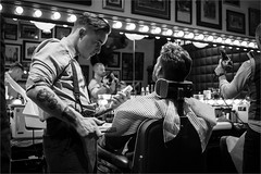 The Barber Barber shop / Liverpool (zilverbat.) Tags: uk portrait england people urban blackandwhite haircut classic monochrome fashion tattoo liverpool vintage photography mirror blackwhite freestyle europe noir image zwartwit cut candid hipster citylife streetphotography dramatic lifestyle streetlife retro shampoo bbc barber shave oldfashion timelife pancake cinematic portret humans razor mav blance urbanlife candidphotography streetcandid peopleinthecity socialdocumentaryphotography lifeinblackandwhite blackwhitephotos zilverbat canonpancakeef40mmf28stm elvinhagekpnplanetnl bennyslick mattthesheriff collagelane traditionalcut inkysteve lefthandbobby
