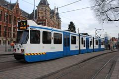 GVB 906 te Amsterdam 3 januari 2016 (Remco van den Bosch 72) Tags: street netherlands amsterdam nederland tram publictransport amsterdamcentraal straat gvb openbaarvervoer 906 gemeenteamsterdam lijn5