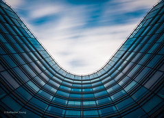 Equilibrium (Katherine Young) Tags: city uk longexposure blue abstract london architecture clouds movement nikon contemporary united fineart kingdom wideangle vauxhall d800 1635mm 1635mmf4
