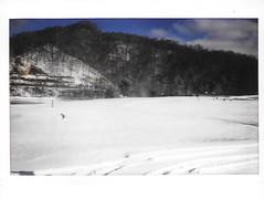 Martins Fork Lake -- Harlan, KY (xandai) Tags: county lake snow film landscape fuji kentucky ky fork martins harlan instax easternkentucky