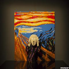 Three-dimensional scream (Iceman_Mark) Tags: sculpture art switzerland nathan lego bricks scream edvard zrich munch grito exibition ausstellung cri urlo artistry skrik puls5 2016 schrei sawaya theartofthebrick