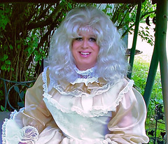 Taffeta and chiffon (jensatin4242) Tags: ruffles chiffon sissy transvestite taffeta crossdresser frilly jensatin